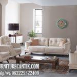 Sofa Ruang Tamu Mewah Kerangka Kayu Jati