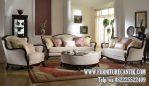 Sofa Ruang Tamu Mewah Kerangka Kayu Jati Asli