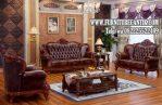 Sofa Tamu Mewah Ukiran Klasik Terbaru Kayu Jati