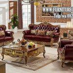 Sofa Tamu Mewah Ukiran Terbaru Kayu Jati