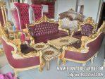 Sofa Ruang Tamu Ukiran Mewah Kayu Jati Model Barcelona