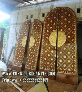 Pintu Masjid Kayu Jati Model Ukir