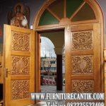 Pintu Masjid Kayu Jati Modern