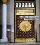 Pintu Masjid Kayu Jati Ukiran Mewah