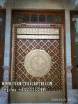 Pintu Masjid Minimalis Kayu Jati Variasi Kuningan