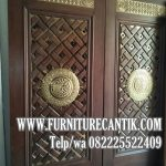 Pintu Masjid Ornamen Ukiran