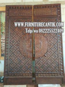 Pintu Masjid Kayu Jati Ukiran