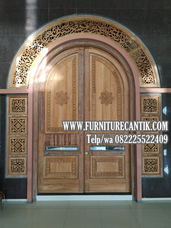 Pintu Masjid Kombinasi Ukiran
