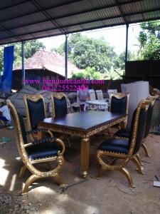 Set Meja Makan Natural Emas Bali