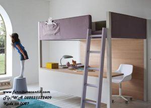Tempat Tidur Tingkat Dan Meja Belajar