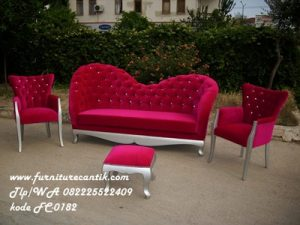 Set Sofa Ukir Cat Duco Silver