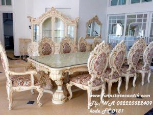 Set Meja Makan Minerva Ukiran Mewah
