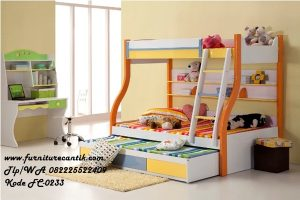 Tempat Tidur Tingkat Orange