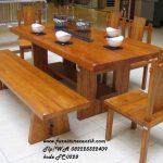 Set Meja Makan Solid Wood