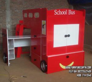 Tempat Tidur Karakter School Bus