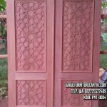 Pintu Masjid Jati Minimalis Ukiran Cantik