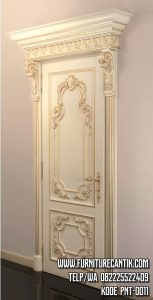 Pintu Rumah Minimalis Ukiran Mewah Gold