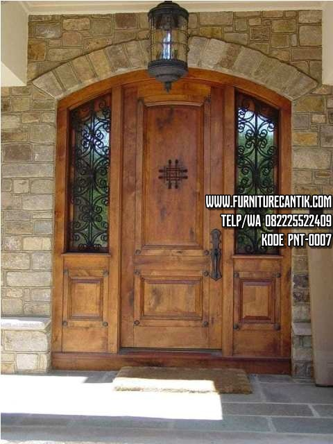 Pintu Utama Jati Minimalis