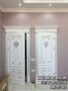 Model Pintu Kamar Ukiran Minimalis Elegan