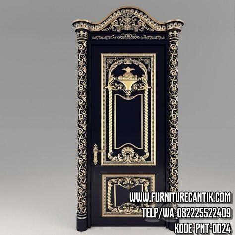 Pintu Kusen Rumah Mewah Hitam Gold (2)