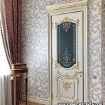 Pintu Rumah Mewah Gold Putih
