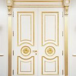 Pintu Utama Rumah Mewah Ukiran Modern