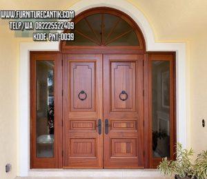 Model Pintu Rumah Mewah Kayu Jati