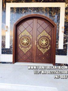 Pintu Masjid Jati Ukiran Klasik