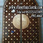 Pintu Masjid Kayu Jati Ukir Kaligrafi