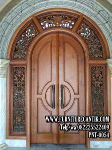 Pintu Utama Rumah Mewah Kayu Jati B