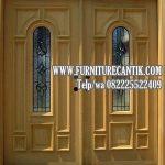 Daun Pintu Rumah Mewah Kayu Jati Asli
