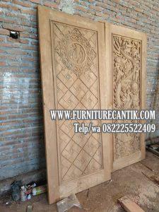 Pintu Masjid Jati Ukiran Kaligrafi Mewah