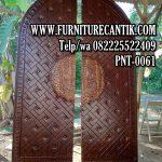 Pintu Masjid Kayu Jati Solid TPK