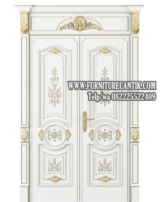 Pintu Rumah Mewah Minimalis Ukiran Tempel