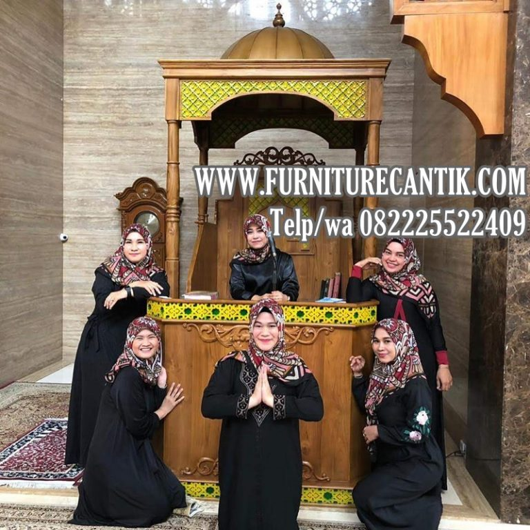 Mimbar Masjid Jati Ukiran Furniture Cantik Jepara