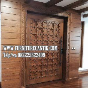 Pintu Rumah Mewah Jati Model Benteng