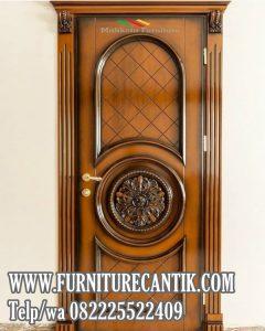 Pintu Rumah Mewah Jati Ukiran Klasik Cantik Jepara