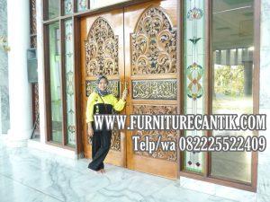 Pintu Utama Masjid Agung Pamekasan Jati Ukiran Jepara