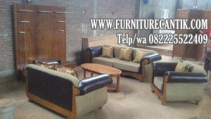 Sofa Ruang Tamu Jati Ukiran Cantik Jepara