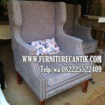 Sofa Santai Jati Mewah Kain Bludru Kualitas Bagus