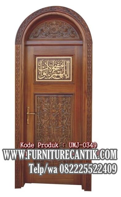Jual Pintu Masjid Kayu Jati Model Setengah Lingkar