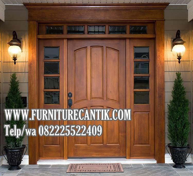 Jual Pintu Utama Rumah Mewah Jati Terbaru