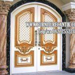 Jual Pintu Utama Rumah Mewah Jati Ukiran Jepara