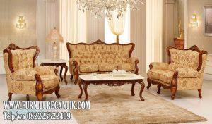 Kursi Ruang Tamu Jati Ukiran Klasik