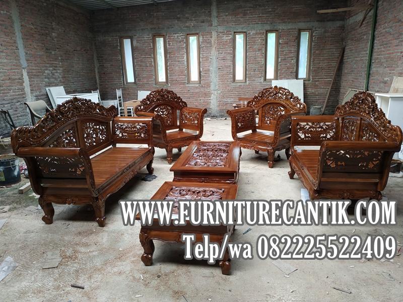 Kursi Sofa Tamu Jati Ukiran Mewah Terbaru