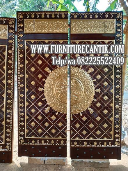 Pintu Masjid Jati Minimalis Kaligrafi