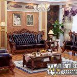 Set Kursi Tamu Cantik Sofa Jati Ukiran Mewah