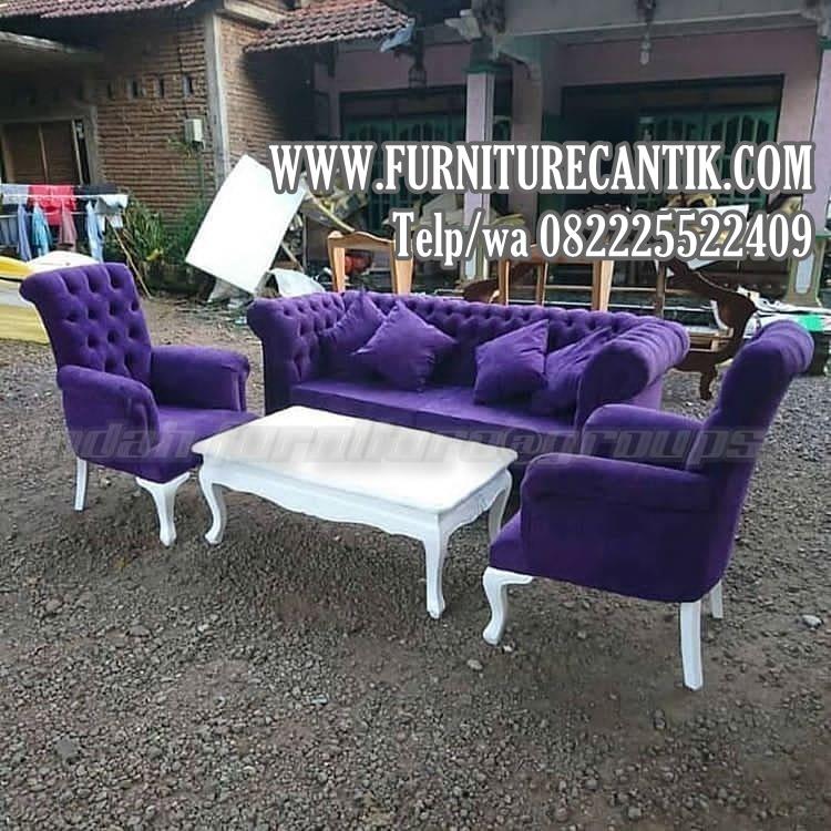 Kursi Tamu Sofa Minimalis Kain Bludru Cat Duco