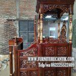 Mimbar Masjid Jati Jepara Model Terbaru