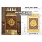 Replika Pintu Masjid Nabawi Madinah
